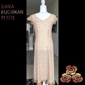 MAXI FLORAL DRESS BY DANA BUCHMAN PETITES 🌺 6P